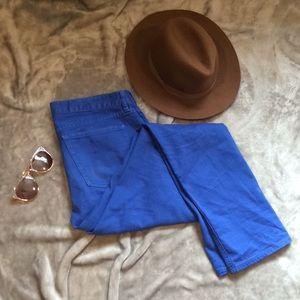 VINTAGE STRAIGHT LEGGED BLUE PANTS